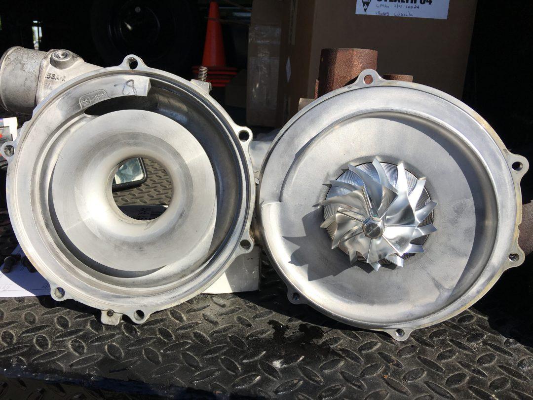 Billet turbo wheel swap LML Chevy Duramax