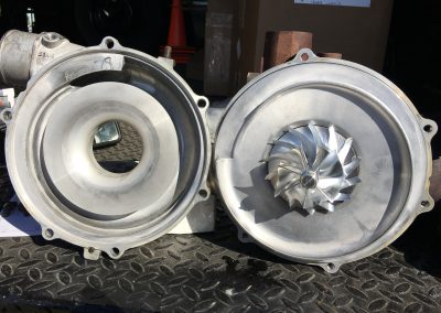 Billet turbo wheel swap LML Chevy Duramax